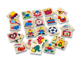 Dřevěné obrázky - značky pro školky 4 - 25 obrázků