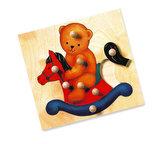 Puzzle - medvěd - MAXI úchytky
