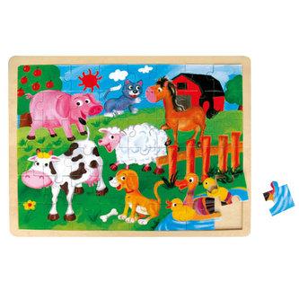 Puzzle - Zvířátka na farmě