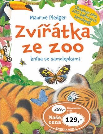 Zvířátka ze ZOO - kniha se samolepkami