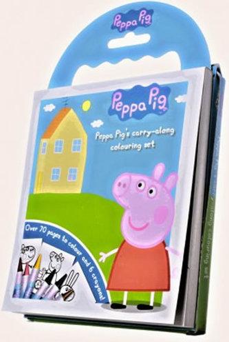 60 omalovánek Prasátko Peppa + voskovky + DVD