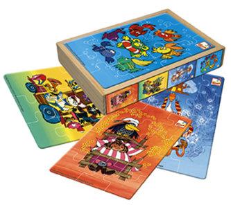 Pohádky - 4 puzzle s motivy večerníčků