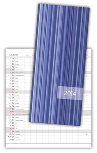 Diář 2014 - kapesní - Napoli měsíční - design 01