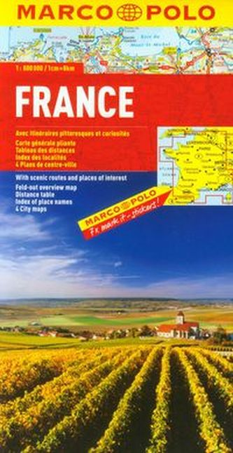 Francja mapa drogowa 1:800 000 - neuveden
