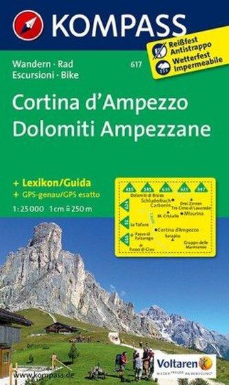 Kompass Karte Cortina d' Ampezzo, Dolomiti Ampezzane