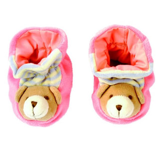 Botičky s medvídkem, růžové