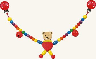 Řetěz do kočárku - medvěd - Cara - BINO