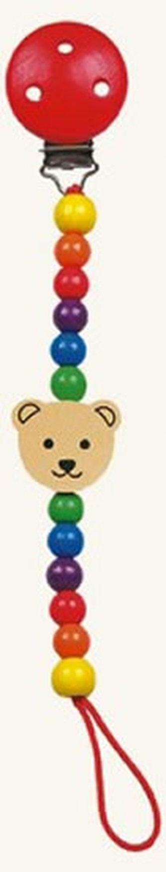 Šnůra na dudlík - medvěd - Pippa