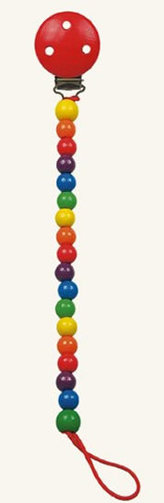 Šnůra na dudlík - korálky - Colori