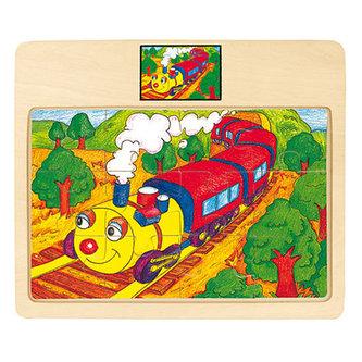 Puzzle na desce - lokomotiva -Rapido