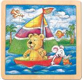 Puzzle na desce - medvěd s myškou -Oli & Lea