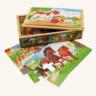 Puzzle v krabičce - zvířátka - BINO