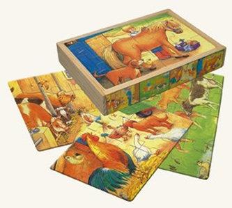 Puzzle v krabičce - zvířata - Stallanimo