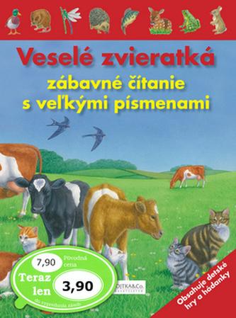 Veselé zvieratká zábavné čítanie s veľkými písmenami