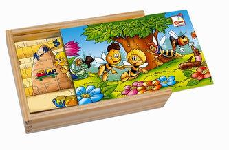 Včelka Mája - 4 puzzle v dřevěné krabičce