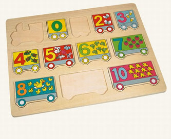 Puzzle - vlak čísla