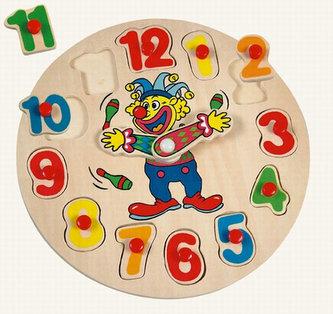 Puzzle hodiny s klaunem (20x20)