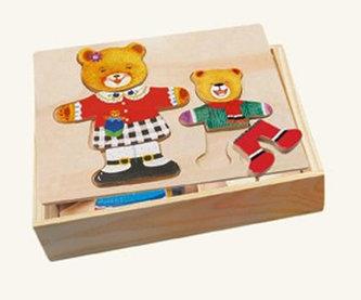 Puzzle šatní skříň - medvědice, medvídek