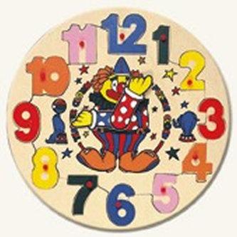 Puzzle hodiny s klaunem (30x30)
