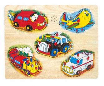 Hrací puzzle na desce - doprava