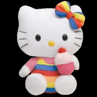 Hello Kitty pruhované kalhotky