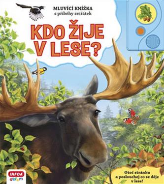 Kdo žije v lese? - Mluvicí knížka s příběhy zvířátek - neuveden