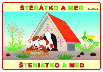 Štěňátko a med - omalovánky A5