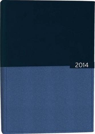 Diář A5 Gemini týdenní modrý 2014
