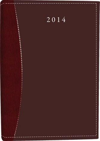 Diář A7 Pegas týdenní vínový 2014