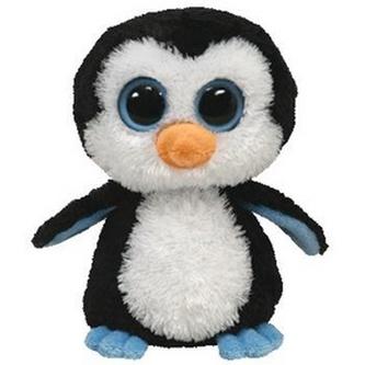 Plyš očka tučňák hnědá maxi