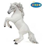 Kůň vzepjatý bílý