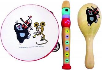 Krtek - Hudební set (obsahuje tamburínu, rumbakoule a flétnu)