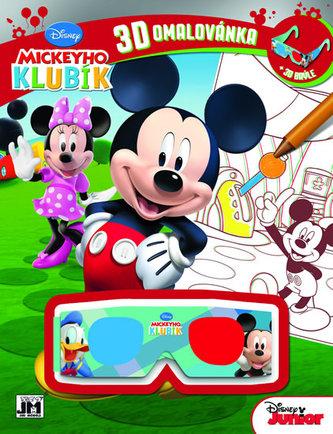 3D omalovánka Mickeyho klubík