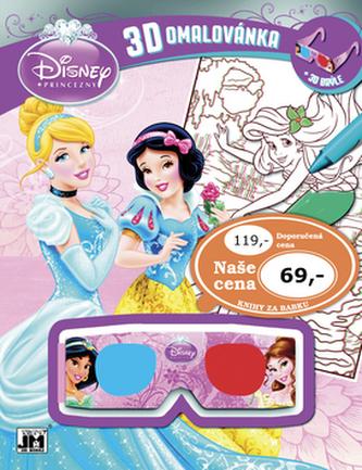 3D omalovánka Disney Princezny