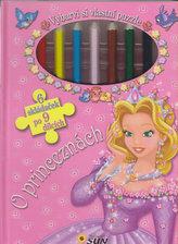 O princeznách - Vybarvi si vlastní puzzle (6 skládaček po 9 dílcích)