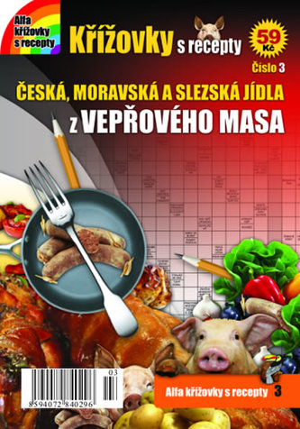 Křížovky s recepty 3 - České recepty z vepřového masa