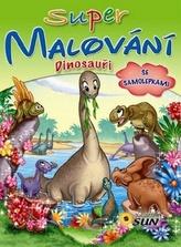 Super malování se samolepkami Dinosauři