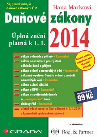 Daňové zákony 2014 -  Úplná znění platná k 1. 1. 2014
