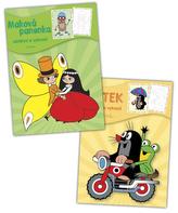Balíček 2ks Krtek + Maková panenka - omalovánky