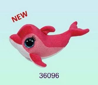 Plyš očka delfín pink střední