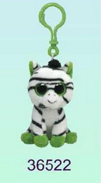 Plyš očka přívěšek zebra