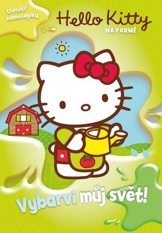 Hello Kitty na farmě - Vybarvi můj svět! + samolepky