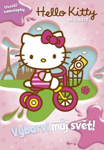 Hello Kitty na výletě - Vybarvi můj svět! + samolepky