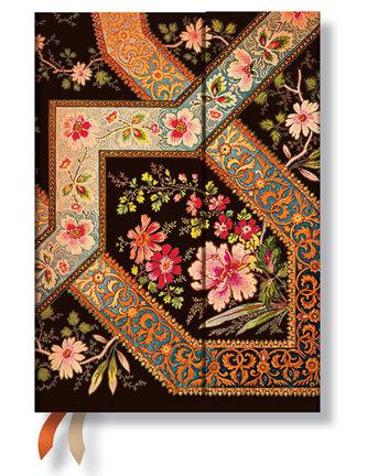 Diář 2015 - Filigree Floral Ebony (12-měsíční horizontal Week-at-a-Time)
