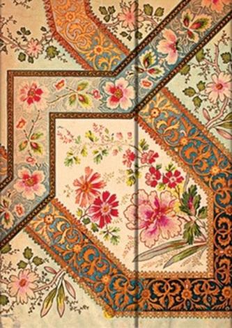 Diář 2015 - Filigree Floral Ivory (12-měsíční horizontal Week-at-a-Time)