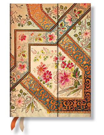 Diář 2015 - Filigree Floral Ivory (12-měsíční horizontal Week-at-a-Time)