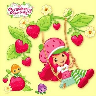 Strawberry Shortcake - omalovánky čtverec