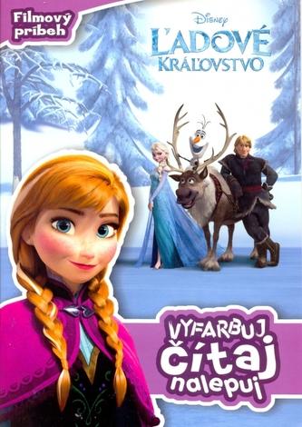 Ľadové kráľovstvo Filmový príbeh Vyfarbuj, čítaj, nalepuj