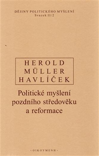 Dějiny politického myšlení II/2 - I. Müller