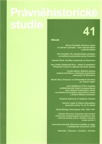 Právněhistorické studie 41